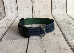 Douglas Modern Tartan Dog Collar Handmade Plaid