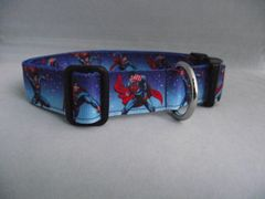 Handmade Superman Flying Dog Collar