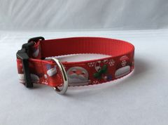 Santa Handmade Dog Collar Style 1