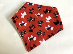 Dog Bandana Handmade Scottie Dog fabric small