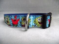 Handmade Sponge Bob Square Pants Dog Collar