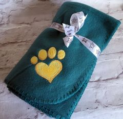 Personalised Dog Blanket Green
