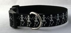 Skeleton Handmade Dog Collar Halloween