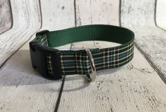 Irish National Tartan Celtic Dog Collar Handmade Plaid
