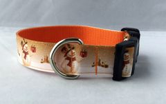 Snowman with Church Christmas Handmade Dog Collar