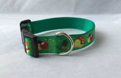 Christmas Bells Handmade Dog Collar