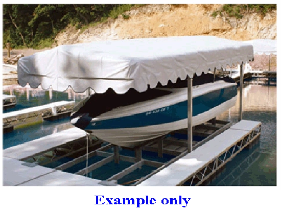 Hewitt Boat Lift Replacement Canopy Covers Shelter Rite