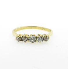 Vintage 18k yellow gold diamond band