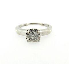 Vintage diamond engagement ring 14k