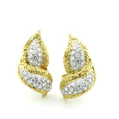 Diamond and gold earrings 18k