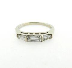 Baguette diamond band 14k