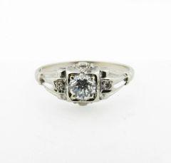 Vintage diamond engagement ring 18k