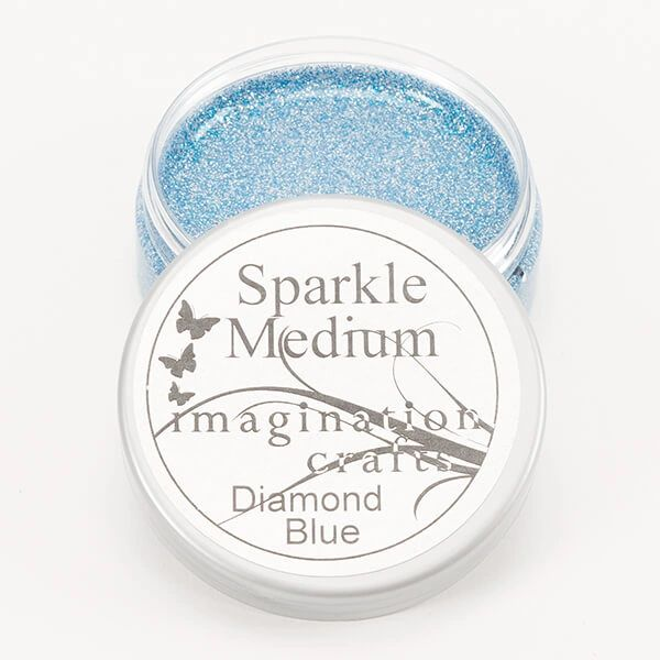 Imagination Crafts Glitter Sparkle Medium Clear Gel 50ml - Diamond Blue