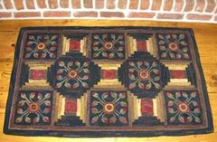 Old Coverlet Rug Pattern
