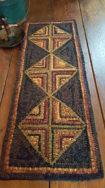Four Corners Log Cabin Runner Kit Log Cabin Rugs