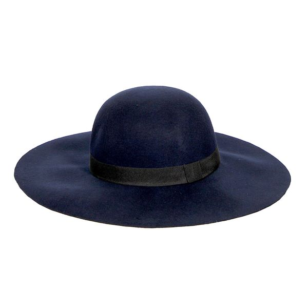 Navy Wool Floppy Hat  0674556f4824