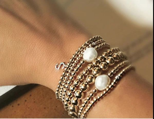 32b13290b55 GOLD FILLED BEADED BALL BRACELETS | LUXE BTQE - An Affordable Online ...