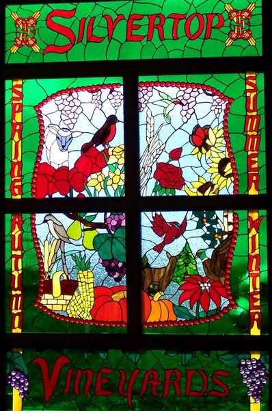 Silvertop Vineyards east window