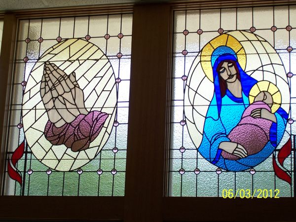 Asbury Methodist Church windows