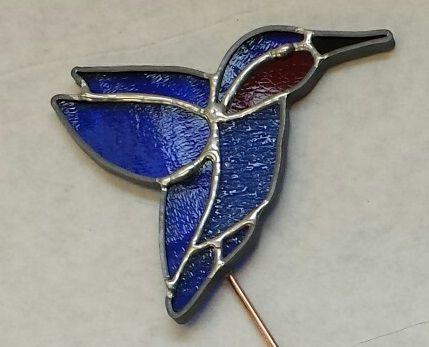Plant pretty-hummingbird, blue