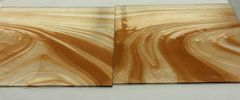 Cinnamon/clear baroque stained glass