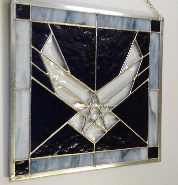 Air force emblem in beveled glass