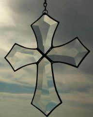 Ornate beveled cross