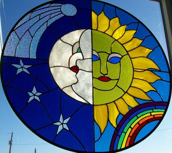 Sun Moon Bathroom window