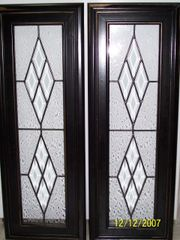Cabinet door, diamond bevels