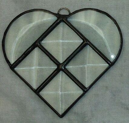 Mini beveled heart, black solder