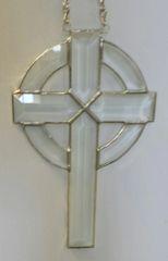 Beveled cross with beveled circle