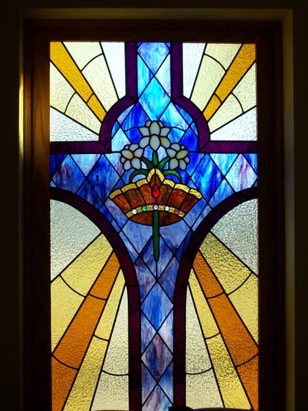 Window for First Christian Church, Newkirk, OK