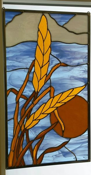 Wheat and cloud panel