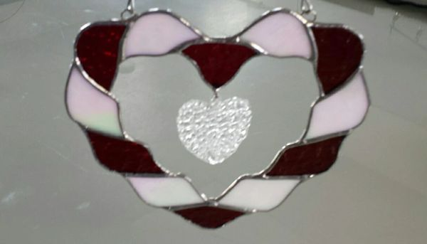 Twisted heart suncatcher