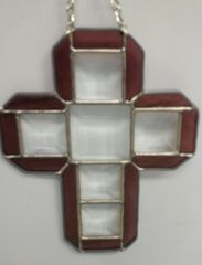 Block cross, small purple