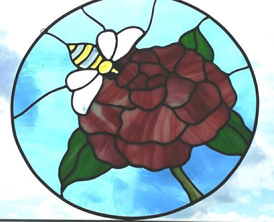 Beveled Bee on flower