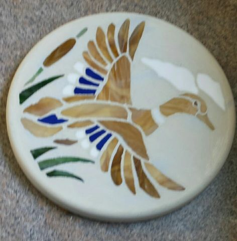 Mallard duck stepping stone