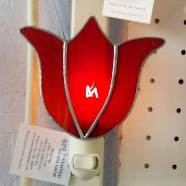 Tulip night light, red