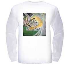 Enchanted Forest Print Long Sleeve Cool Cotton T-Shirt