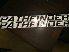 Black - Windshield banner - 44x4 - Outside