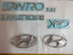 Hyundai Santro Xing Emblem High Quality Badge logo / Monogram Set of 6-Pcs