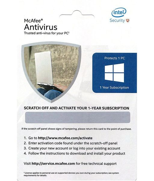 Mcafee Anti virus Keycode for One Year Subscription ( Email Delivery Only )
