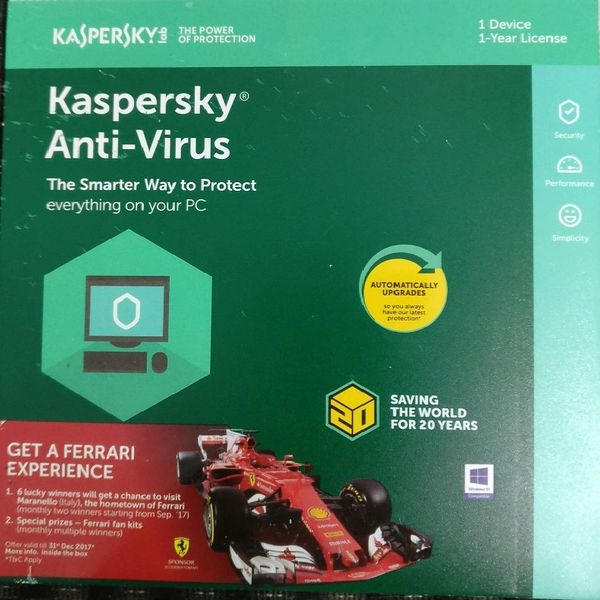 Kaspersky Anti Virus 1 User 1 year Subscription for Windows ( Email Delivery with in 2 Hours )