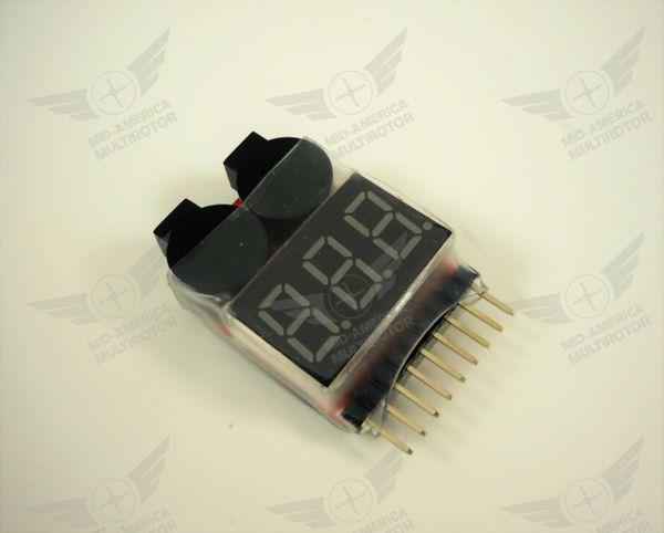 Lipo Battery Voltage Tester / Low Voltage Buzzer Alarm 1-8S
