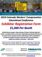2019 Colorado CWCEC Exhibitor Booth