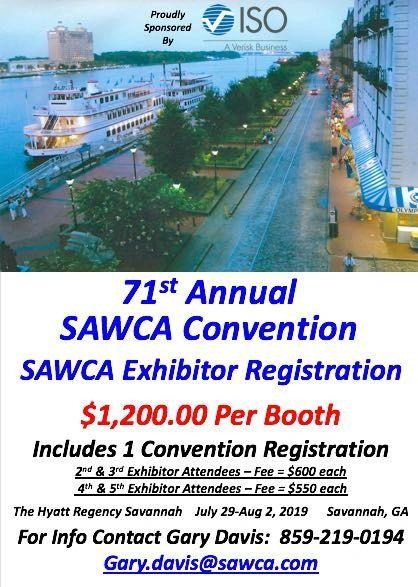71st Annual SAWCA Convention SAWCA Exhibitor Registration