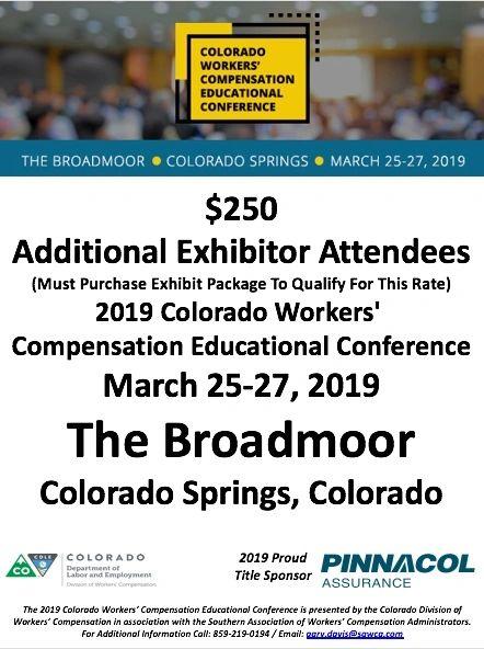2019 Colorado CWCEC Exhibitor Attendees
