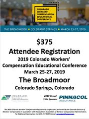 2019 Colorado CWCEC Attendee Registration