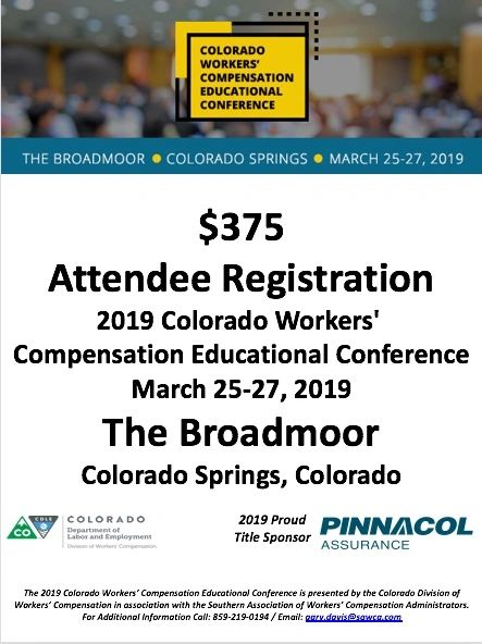 2019 Colorado CWCEC Attendee Registration