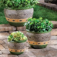 Jade Planter Trio